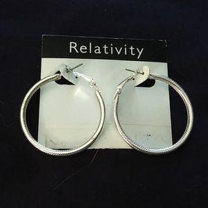 Relativity silver hoops